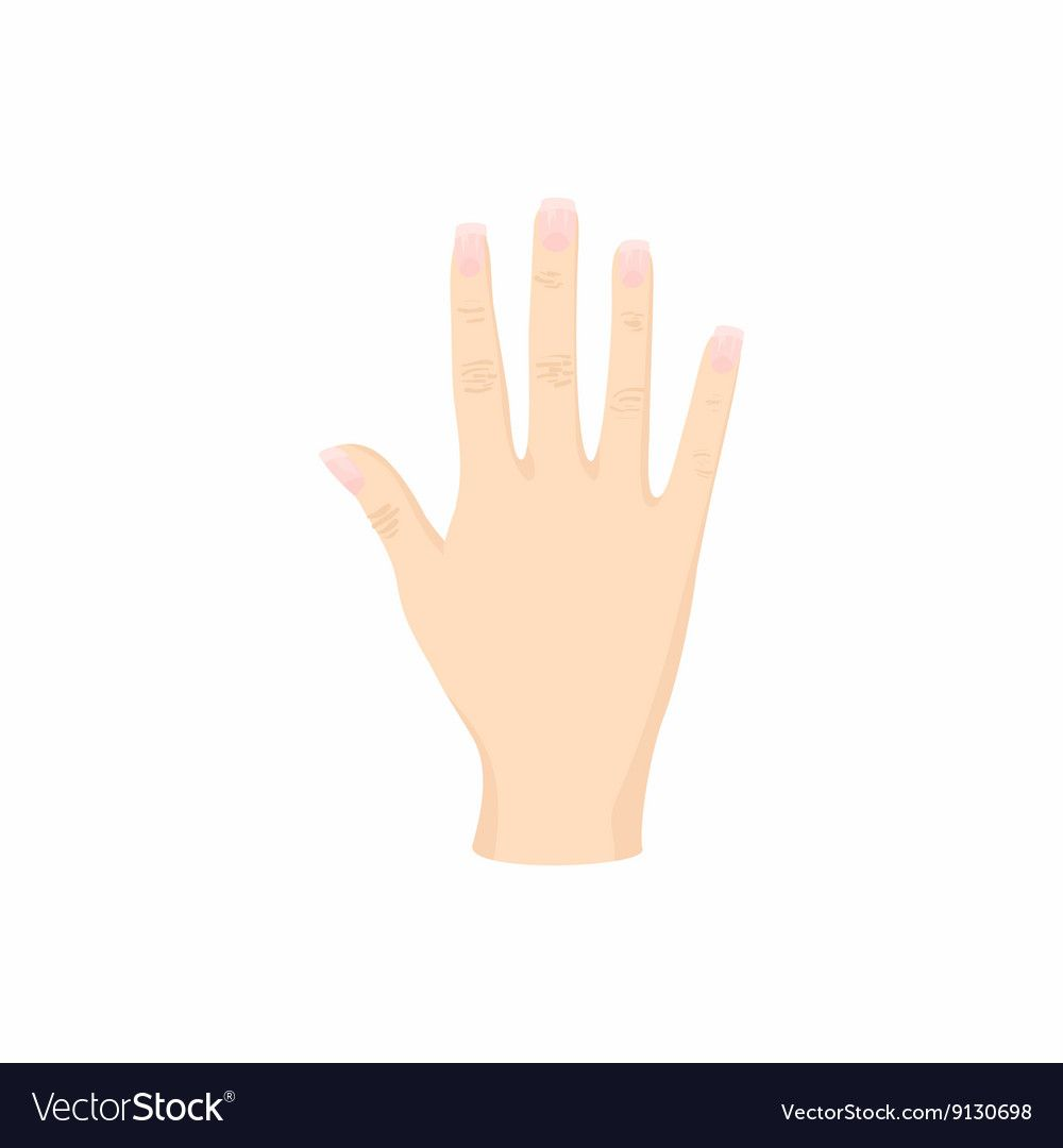 Opened Palm Of The Hand Icon Cartoon Style Vector Image On Vectorstock Cartoon Styles Hands Icon Open Palm