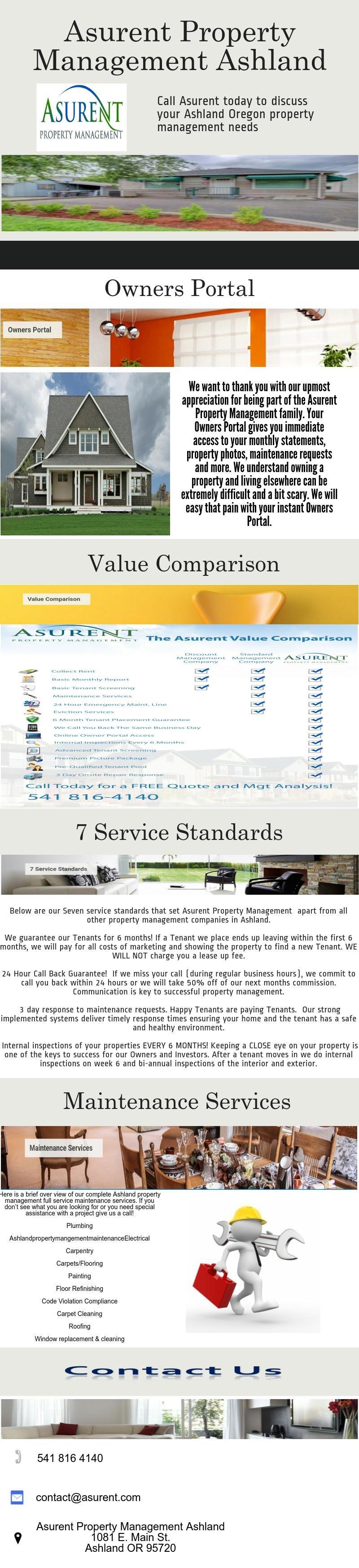 Asurent Property Management Ashland Oregon Is The Premier Full Service Management Company Serving Ashland Oregon Property Management Management Rental Income