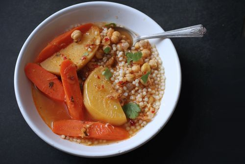 Moroccan Carrot Rutabega Soup with Couscous | Meatless Monday ...
