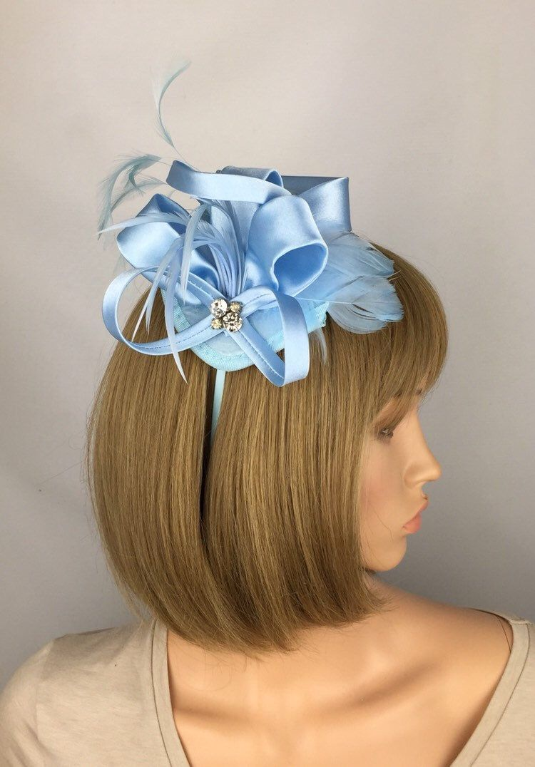 9ec7832c Light Blue Fascinator Baby Blue Fascinator Pale Blue Wedding Fascinator  Mother of the Bride Ladies Day Ascot Races Hatinator Occasion Prom in 2019  | Pretty ...