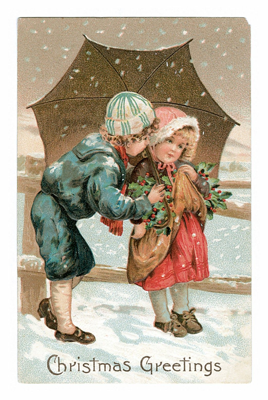 Vintage Cards Children And Christmas Free Printable Christmas