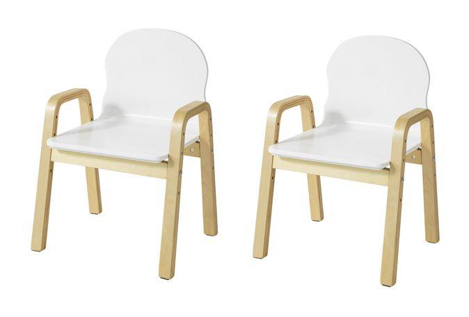 Lot De 2 Chaises Enfant Design Fautueil Pour Enfants Avec Accoudoirs Et Dossier Chaise Confortable Haute Qualite Hauteur Reglable Sobuy Kmb24 Wx2 Chair Furniture Home Decor