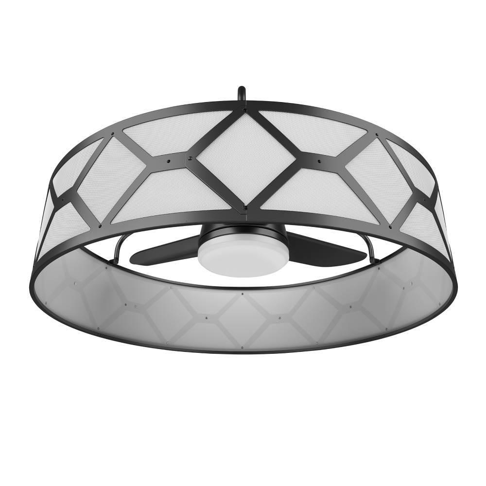 Stile Lancaster 36 In Led Indoor Outdoor Ceiling Fan With Remote Control Ceiling Fan With Remote Ceiling Fan With Light Black Ceiling Fan