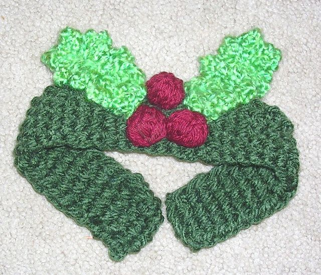 Ravelry: Holly Pet Collar pattern by Pat Kreiling | Crochet Small ...
