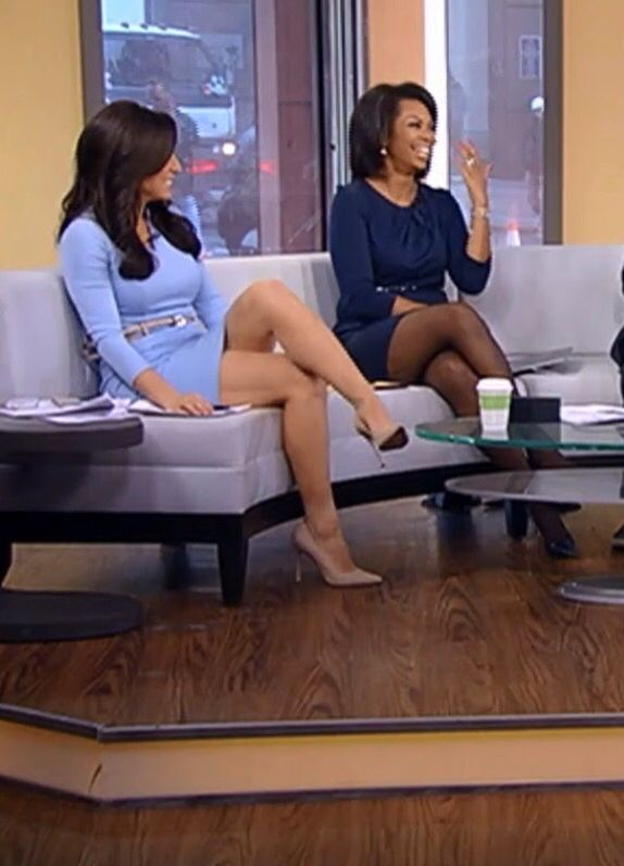 Andrea Tantaros Leg Cross Amp Harris Faulkner In Black