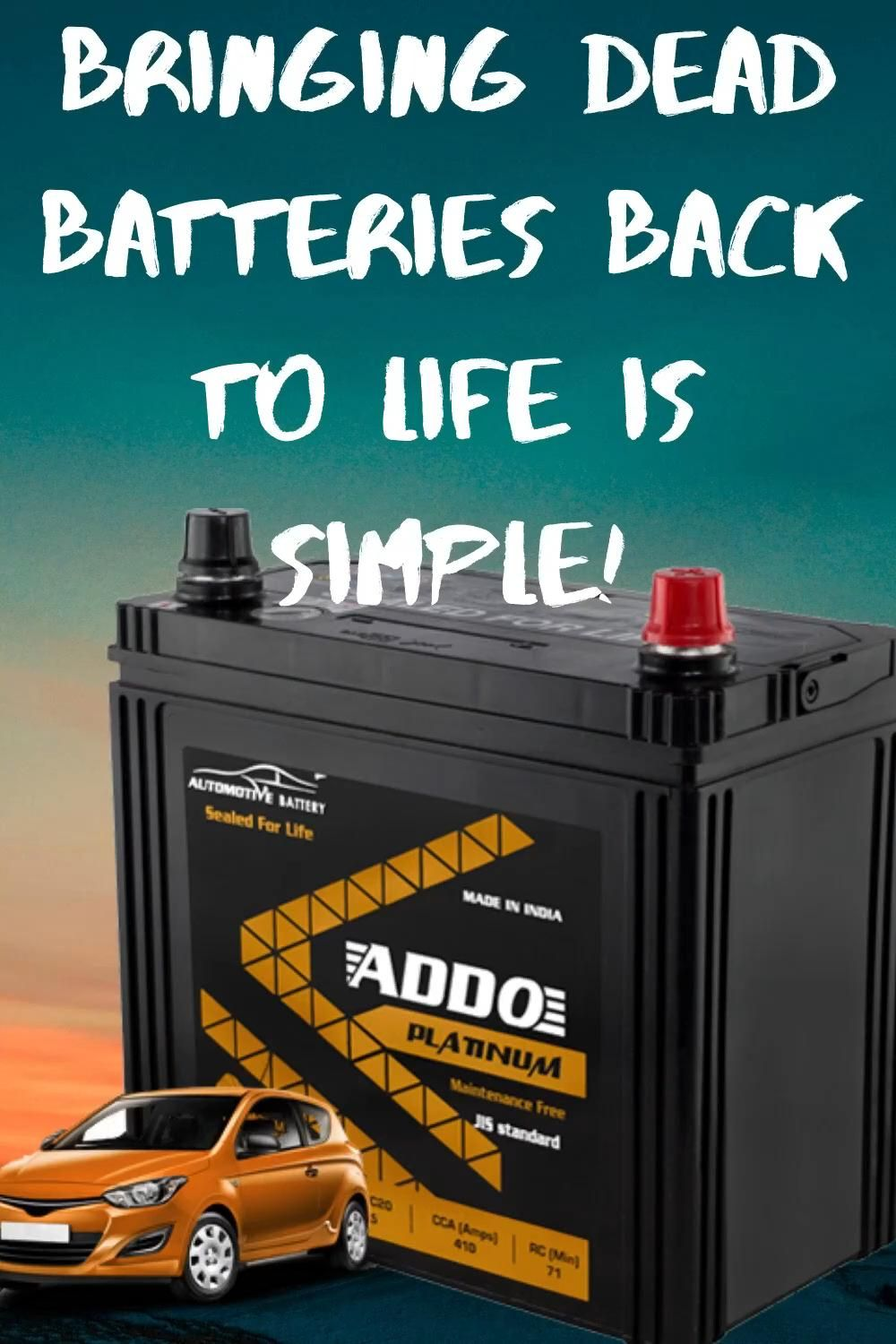How To Recondition Batteries At Home Recondition Batteries Car Battery Dead Car Battery