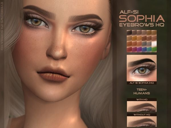 The Sims Resource: Sophia - Eyebrows HQ by Alf-Si • Sims 4 Downloads