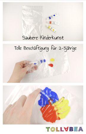 "Muntere Matscherei ohne Kleckerei ""saubere"" Kinderkunst"