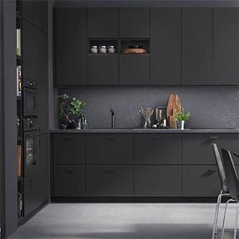 cuisine ikea noire meuble cuisine