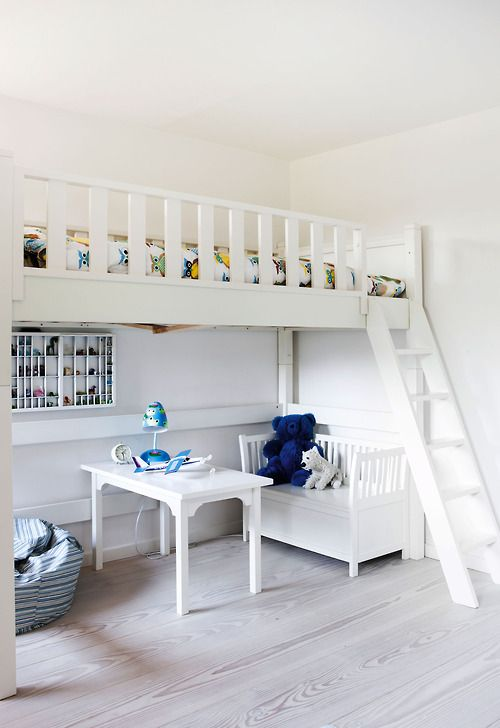 Clean I Love These Loft Style Built Ins Boys Room Design