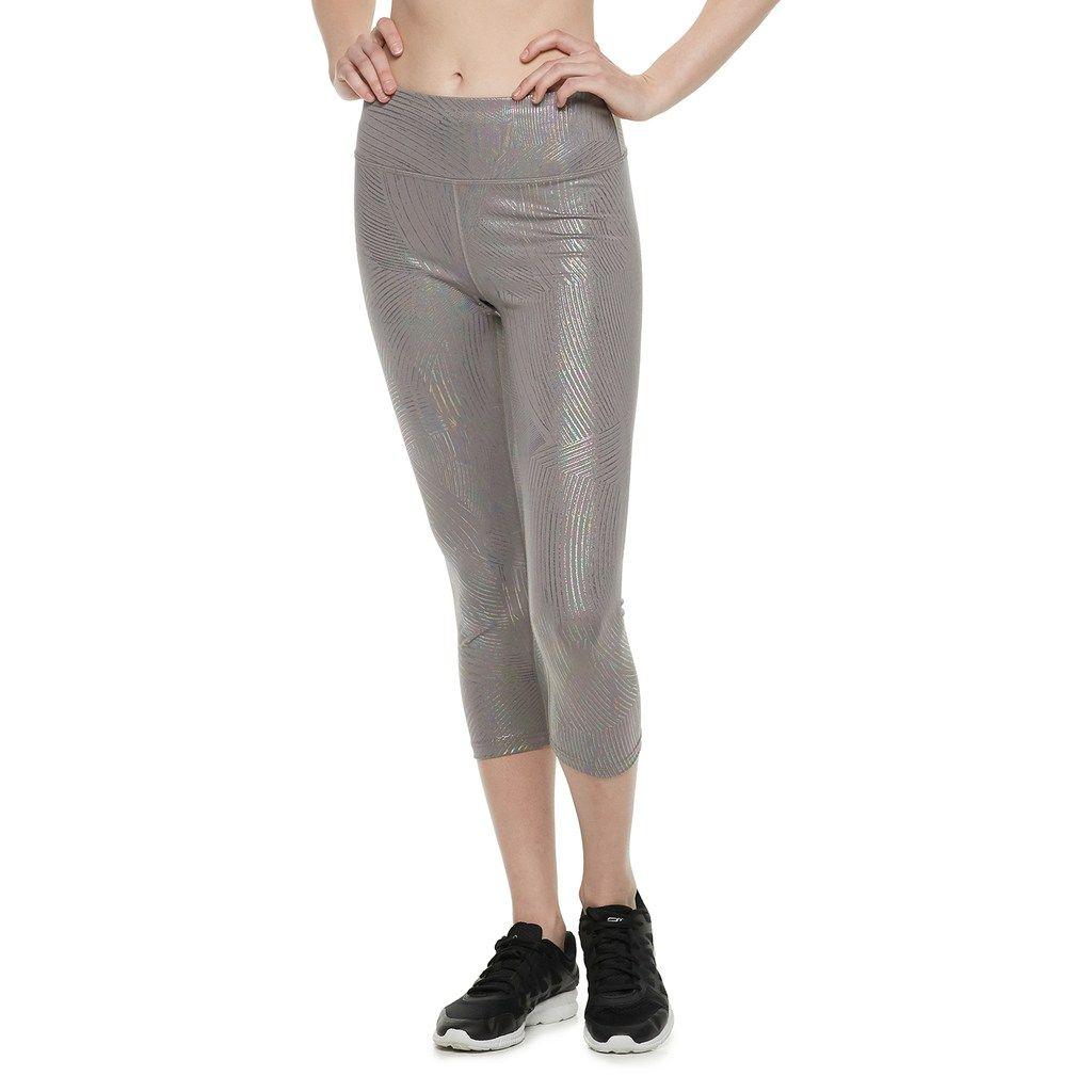 364e3e5a9c64b5 Women's FILA Sport® Fashion High-Waisted Capri Leggings, Med Grey Womens  Sports Fashion