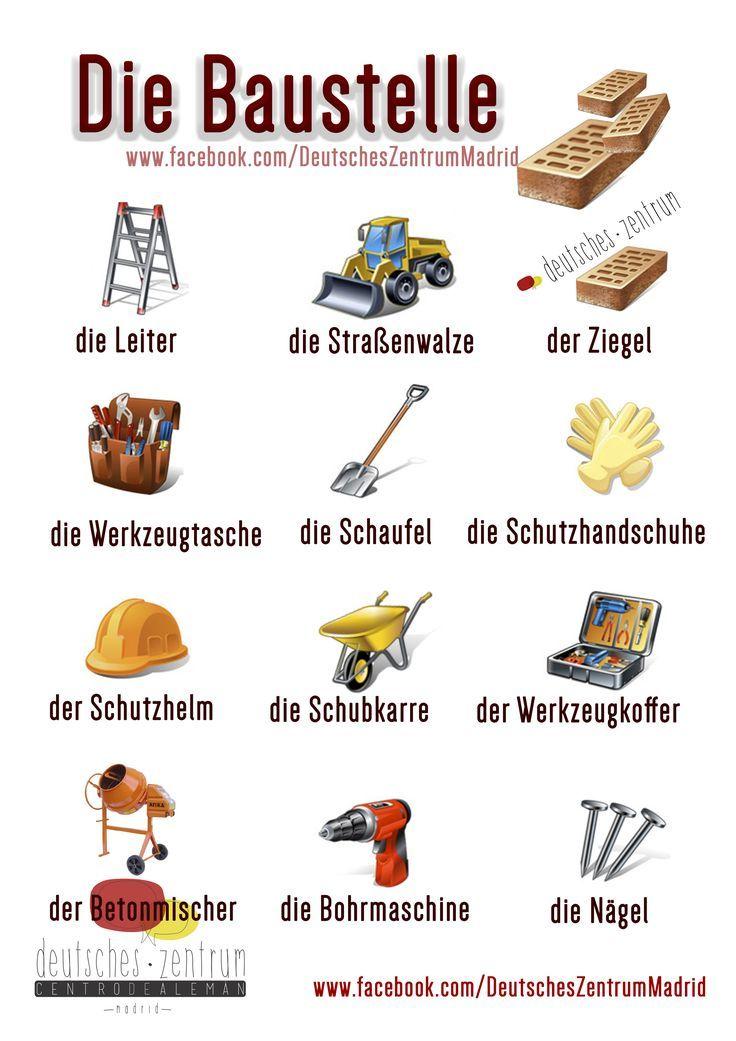 Baustelle Deutsch Wortschatz Grammatik | Learn German / Deutsch ...