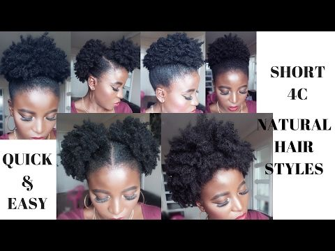 5 Quick Amp Easy Natural Hair Styles Short X2f Medium Length Youtube Natural Hair Styles Easy 4c Natural Hair Natural Hair Styles