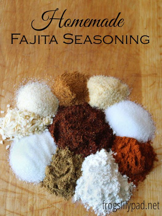 Homemade Fajita Seasoning — Frog's Lilypad