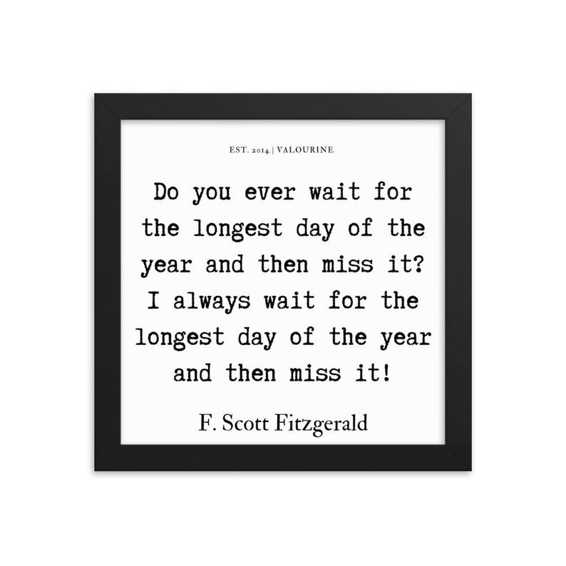 49 | Framed poster   | F.Scott Fitzgerald Quote | 191212 #philosophicalquotes