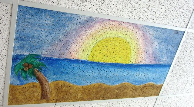Ceiling Tile Art Customize Your Classroom Ceiling Tiles Art School Painting