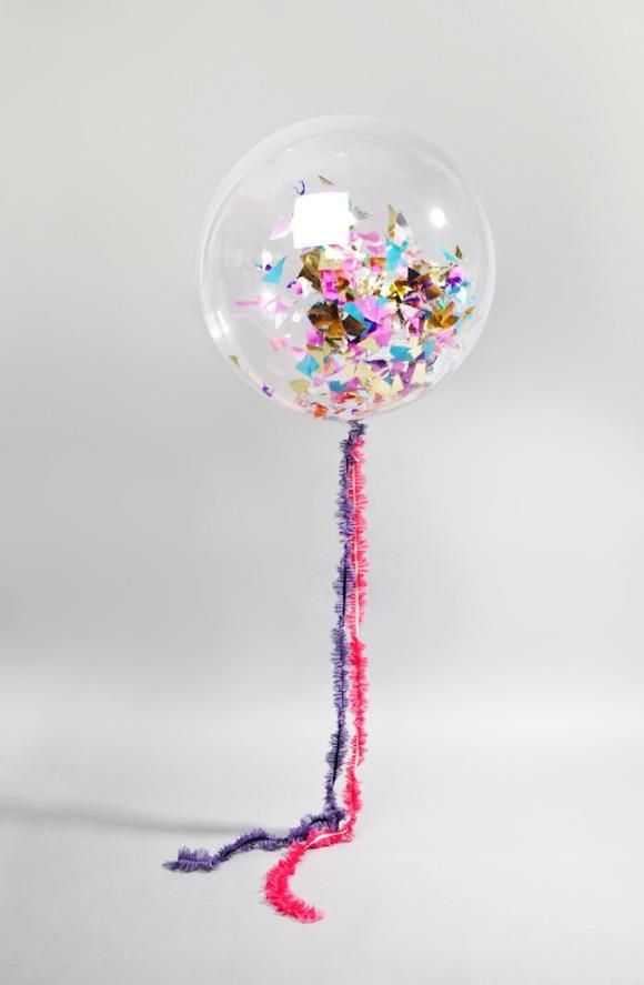 Clear With Confetti Clear Balloons Party Balloons Wedding Balloons