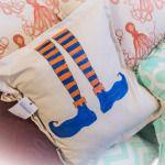 Elf Legs Pillow.  Hand Painted https://www.facebook.com/shellpointcottage