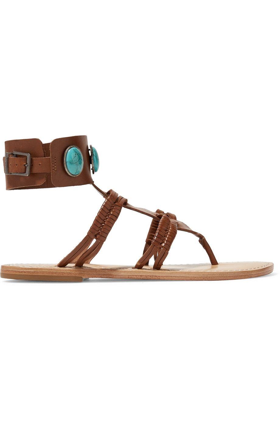 6a19ba56453 SCHUTZ Amarine Embellished Braided Leather Sandals.  schutz  shoes  sandals