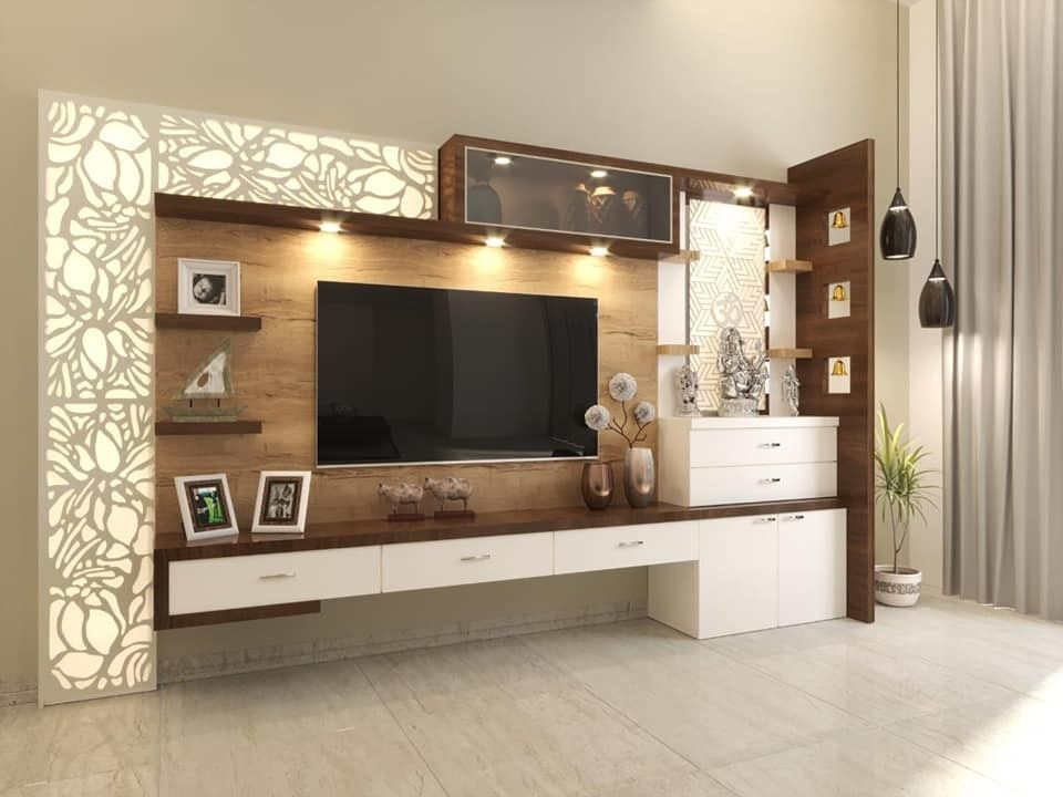 3bhk Interior Design Package Mumbai Start From 15 Lac More Details Kindly Contact Kumar Int Tv Room Design Living Room Design Modern Ceiling Design Living Room
