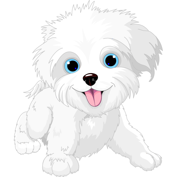 White Pup   Dog drawing, Puppy clipart, Dog vector