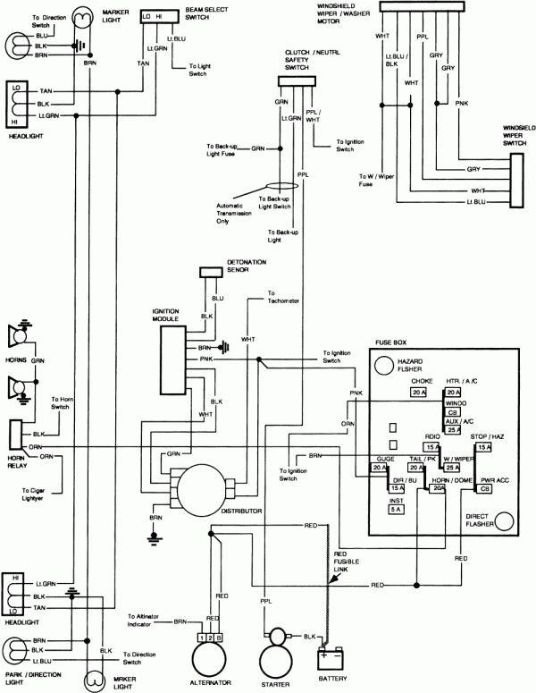 1986 chevrolet silverado wiring diagram