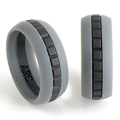 Mens Silicone Wedding Ring Band Arc Designs Won T Break Apart