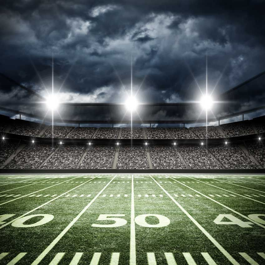 Football Stadium 50 Yard Line Backdrop - 6327