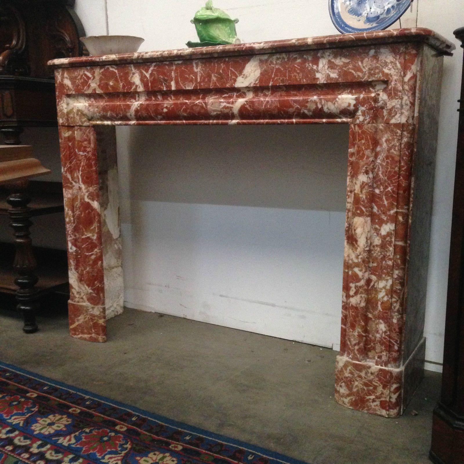 cheminee marbre rose