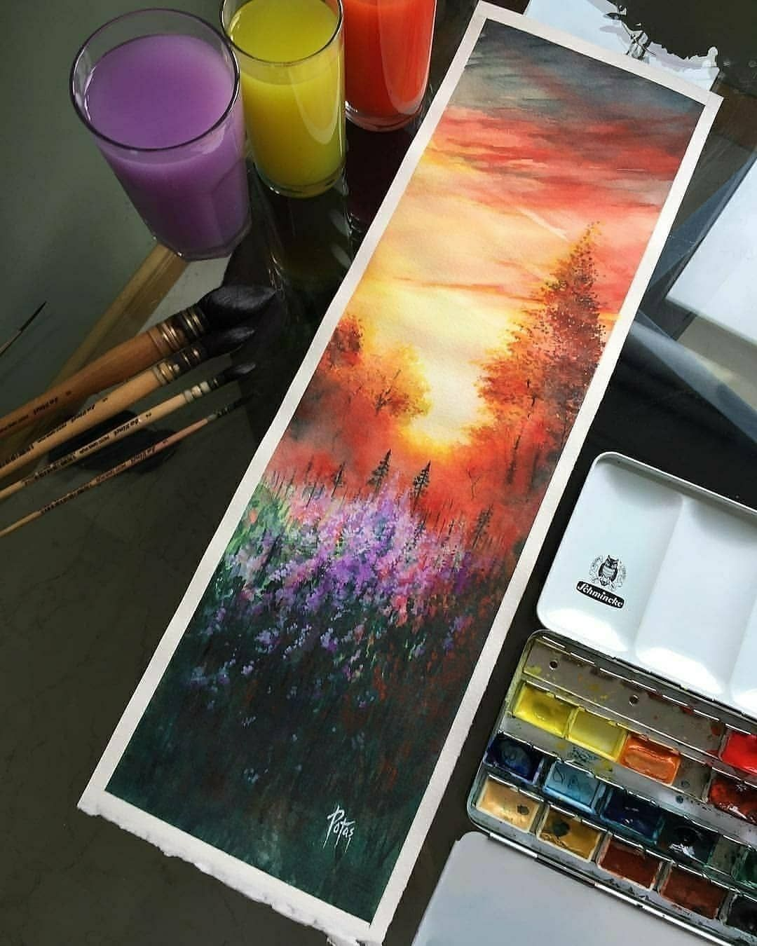 Amazing Landscapes Painted With Watercolors By Adempotas