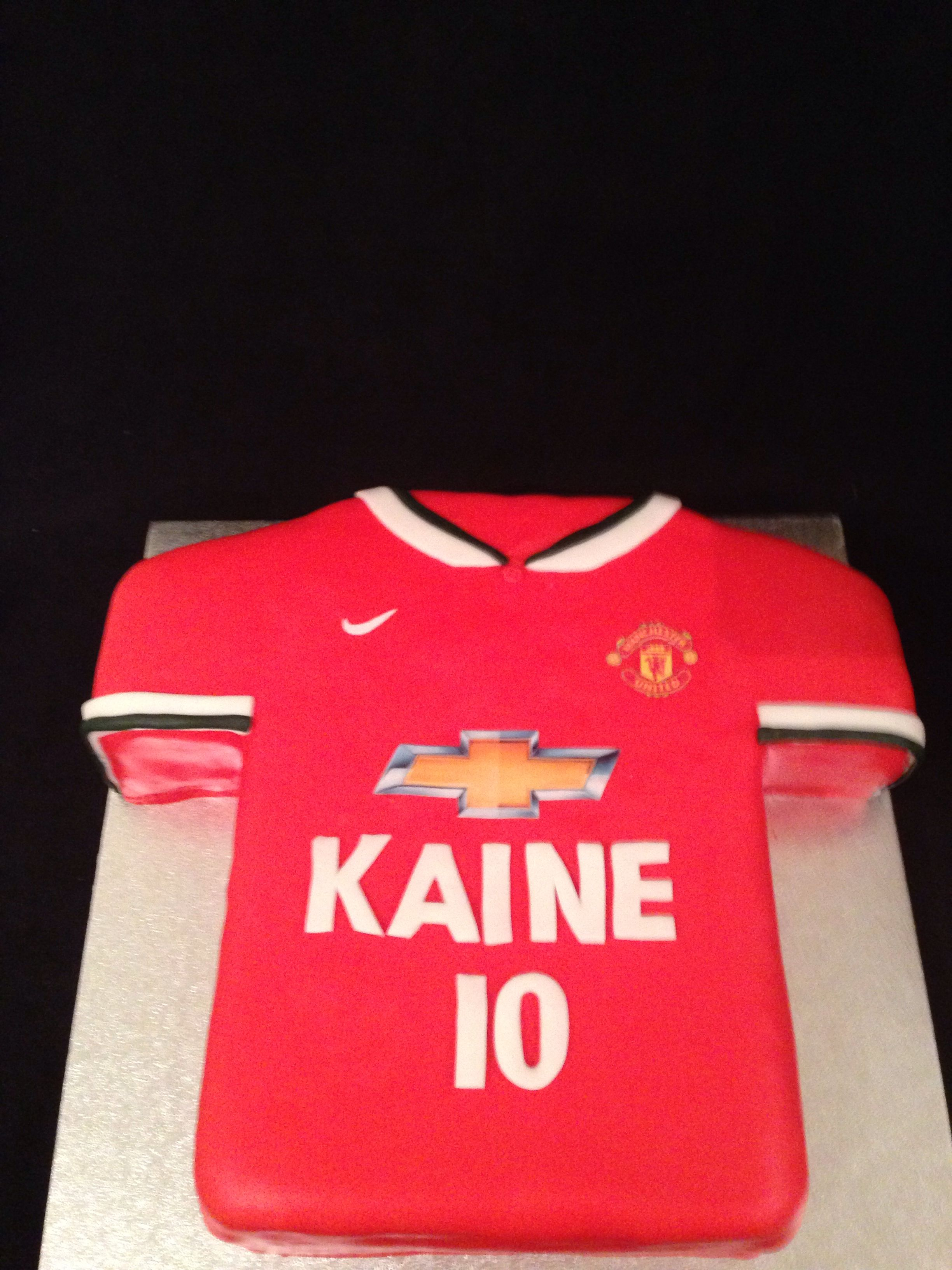 Manchester United Shirt Cake Shirt Cake Soccer Cake Football Cake