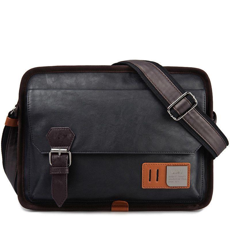 87bf2dd3f1 UIYI PU Leather Messenger Bag Black Men s Bags Crossbody Bags For ...