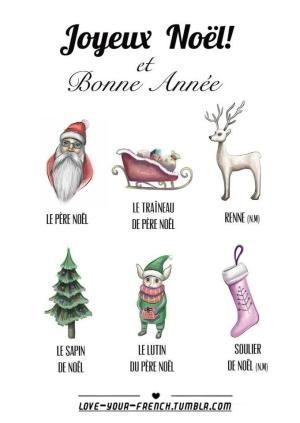 Merry Christmas And Happy New Year By Autumn Decorazioni Natalizie Francese Illustrazioni