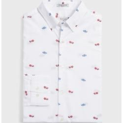 Photo of Gant Le Mans Fast Cars Fil-Coupé Shirt (White) GantGant