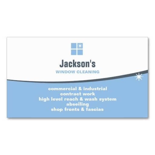 Window Cleaning Business Card Zazzle Com Cleaning Business Cards Cleaning Business Window Cleaner