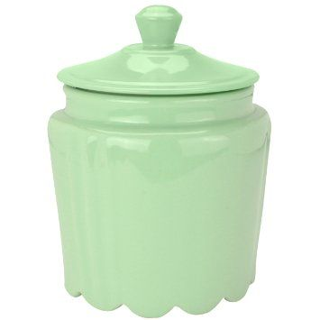 Buy Mint Green Scalloped Ceramic Decorative Cookie Jar