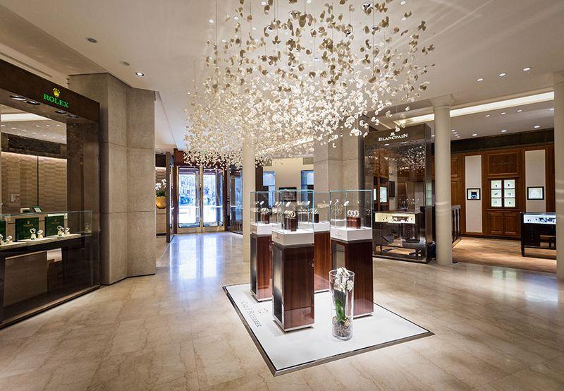 Shop jewelery shop interior design d jewellery shop interior design - Bucherer Luxury Watches And Jewellery Store In Paris Shop