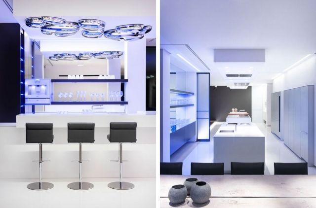 moderne Villa Chamäleon-Küche Bar Innenraum Beleuchtung-Design ...