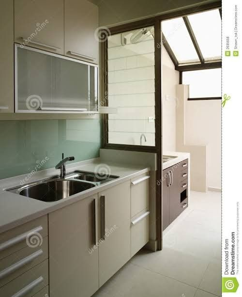 Paint the sashes (or inside frames) of your windows black for a chic and unexpected way to acc. ปักพินในบอร์ด Dirty kitchen / laundry