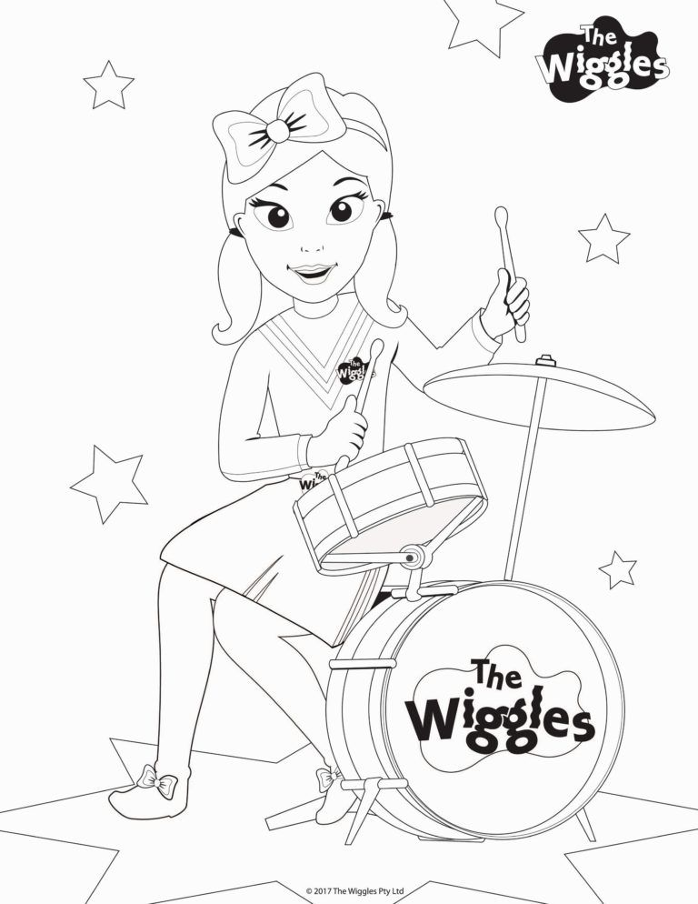 Smartness Design Wiggles Coloring Pages To Print Halloween Emma In