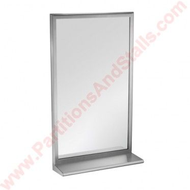 ASI Roval Stainless Steel Mirror With Integral Shelf Roval Stainless - Asi bathroom partitions