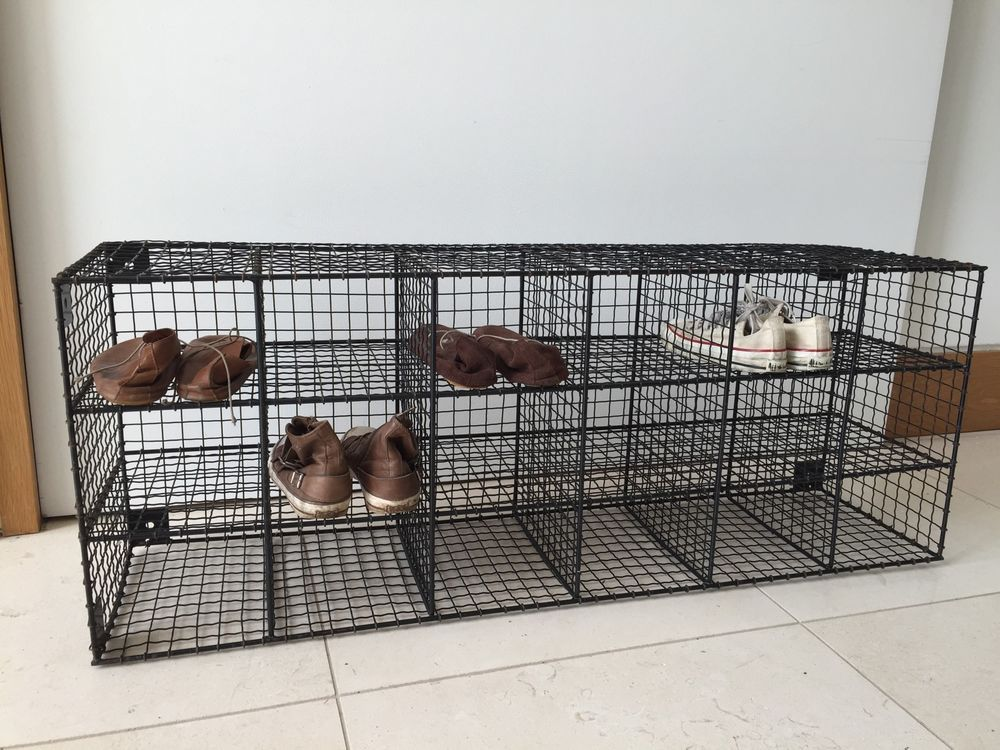 Black Wire Shoe Rack Cage