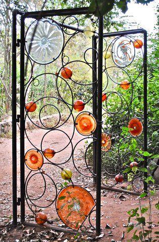 grille 6 | Sculpture métal | Portes de jardin en métal, Art ...