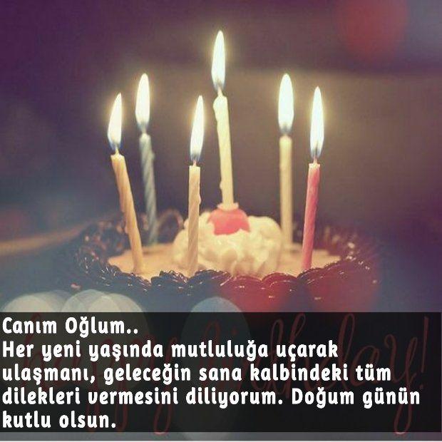 Canim Ogluma Resimli Dogum Gunu Mesaji Birthday Candles Candles Birthday