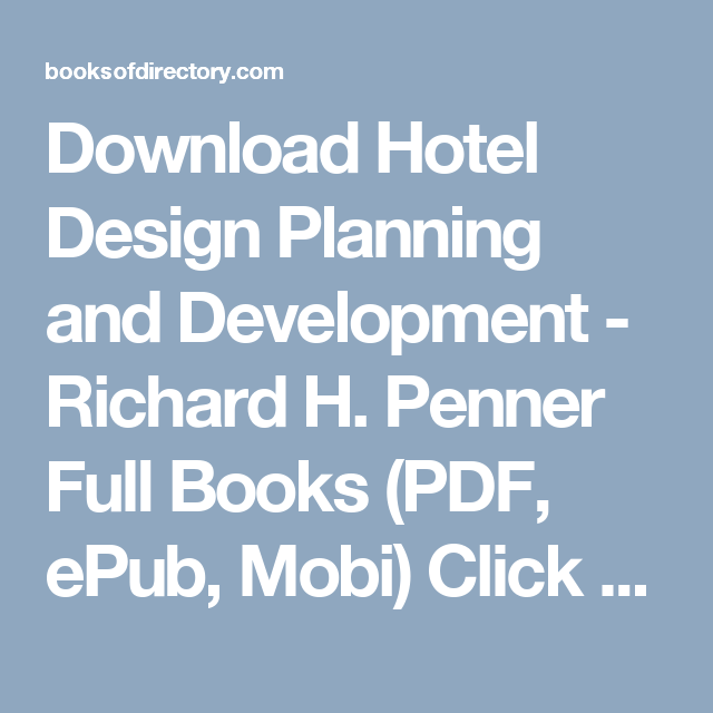 Development planning and pdf design hotel