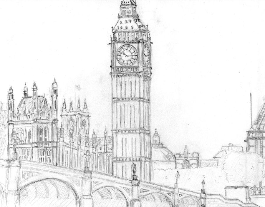 Лондон картинки нарисовать