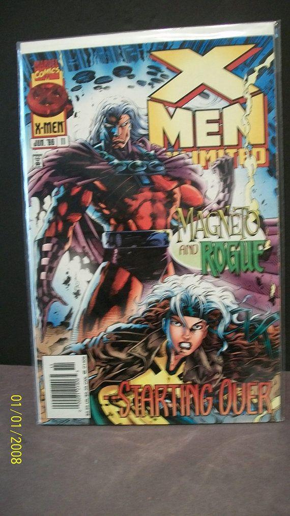 1996 X Men Unlimited 11 Vol 1 Magneto And Rogue Vf Nm Unread X Men Marvel Comics Rogues