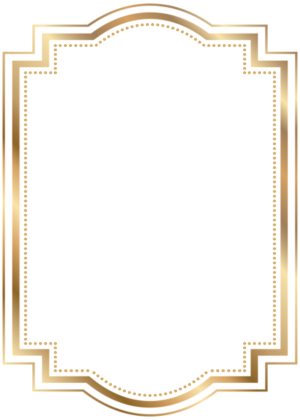 Border frame gold transparent clip art backgrounds