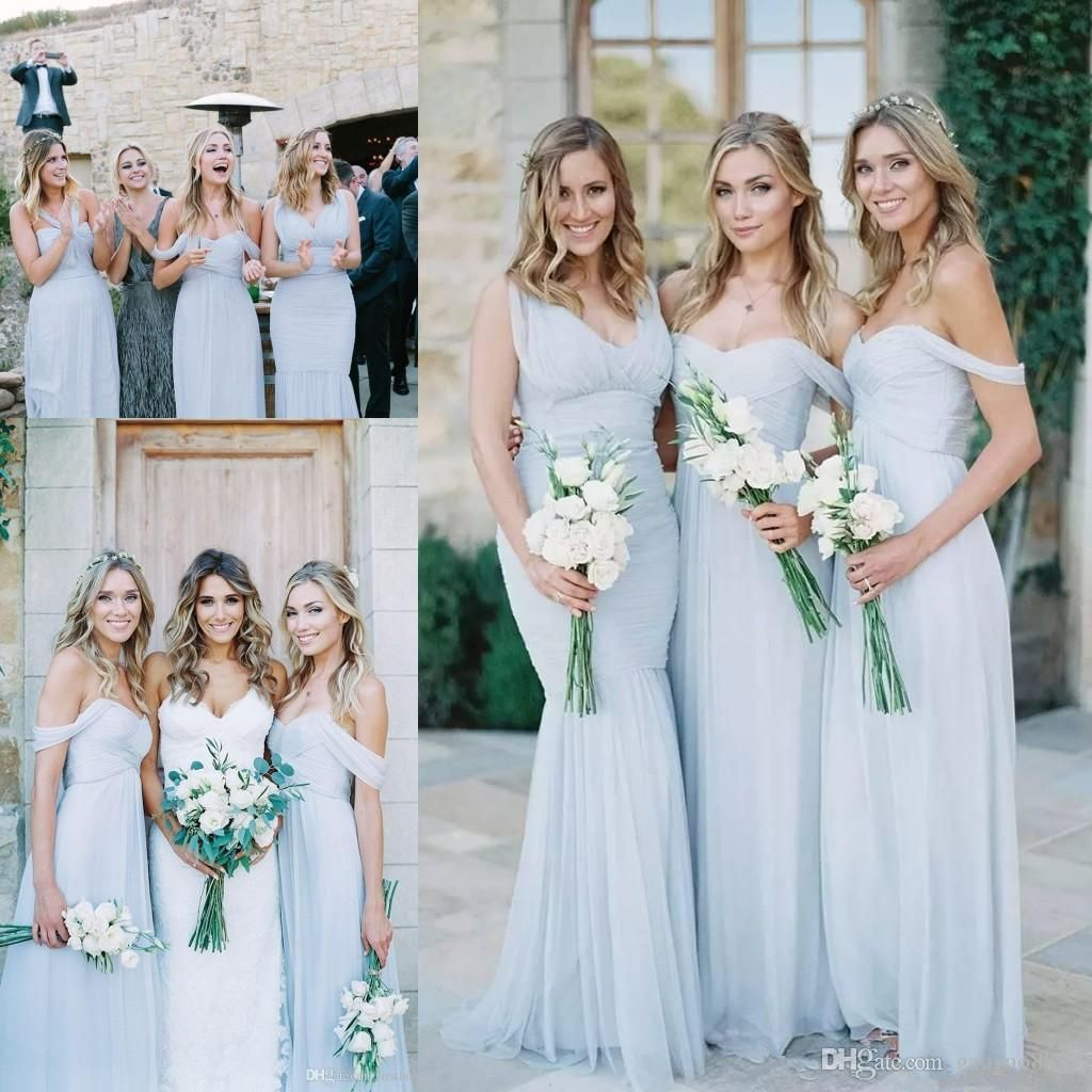 Cheap beach country bridesmaid dresses 2017 light sky blue chiffon cheap beach country bridesmaid dresses 2017 light sky blue chiffon a line ruched mixed neckline beach wedding guest party gowns long ombrellifo Choice Image