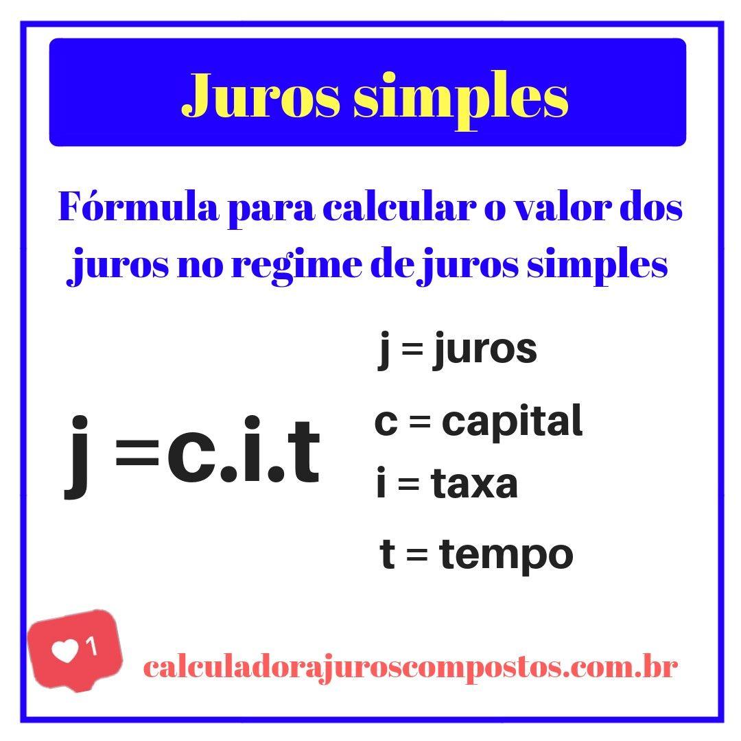 formula dos juros simples | Matemática financeira, Ensino de matemática,  Estude matemática